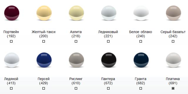 Все цвета кузова Лада Калина: цветовая гамма, фото