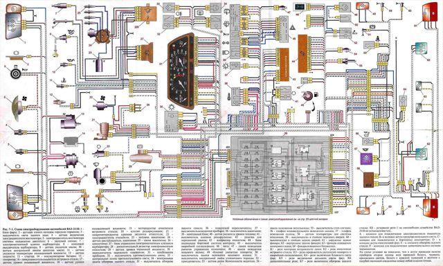 Электросхема ВАЗ-2112 инжектор 16 клапанов с описанием: фото