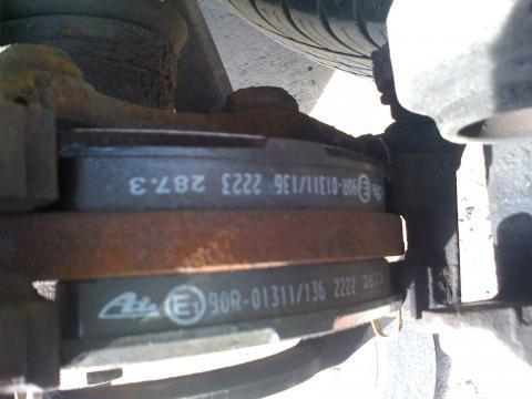 Артикулы и размер передних и задних тормозных дисков на peugeot 206