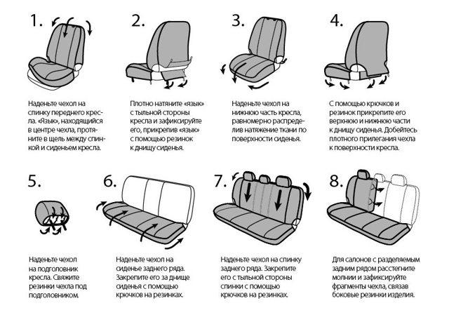 Как надеть и установить чехлы на Рено Дастер: фото и видео