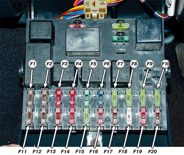 Где на ВАЗ-2112 находится реле сигнала: расположение реле