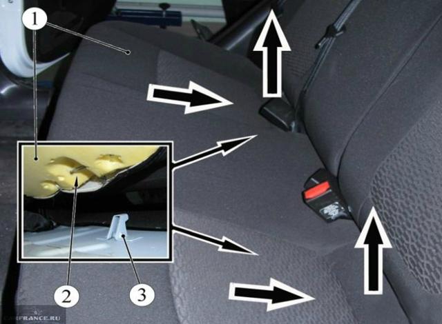 Как снять заднее сиденье на Лада Веста: фото и видео