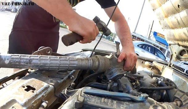 Как подтянуть и отрегулировать рулевую рейку на ВАЗ-2110