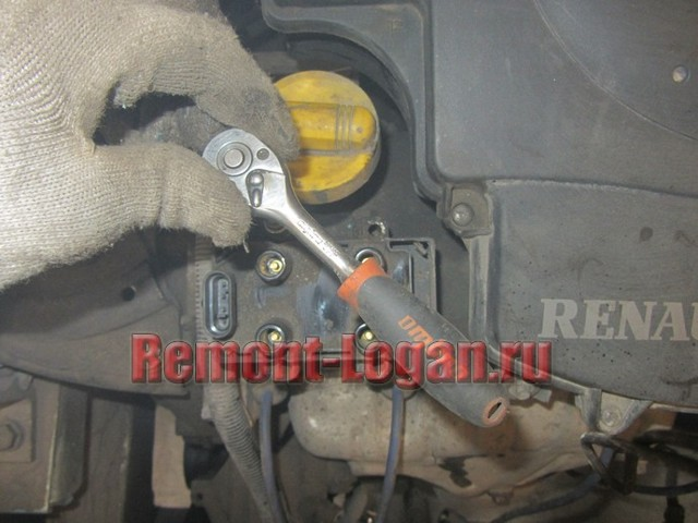Замена катушки зажигания Рено Логан: фото и видео