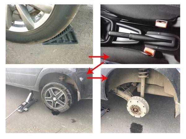 Замена задних тормозных колодок Лада Гранта: фото и видео