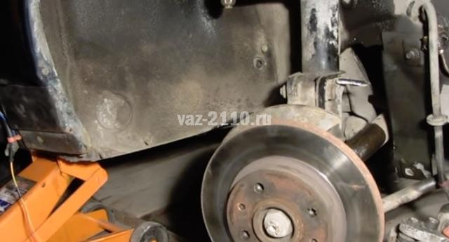 Замена тормозных дисков на ВАЗ-2110: фото, видео и артикулы