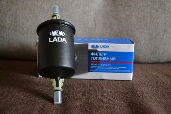Где находится и расположен топливный фильтр на Лада Ларгус