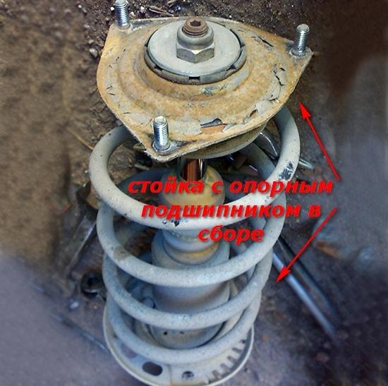 Замена передних стоек на ВАЗ-2114 своими руками: фото и видео