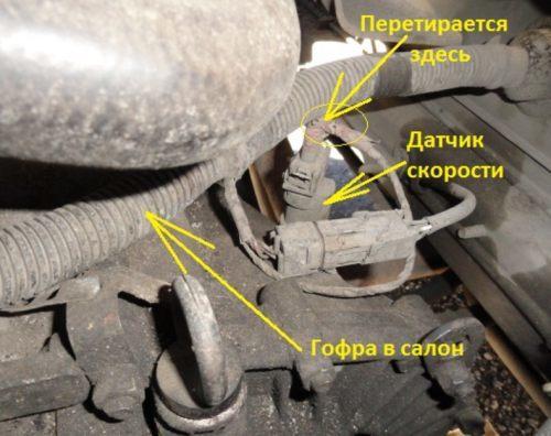Где находится датчик спидометра на ВАЗ-2110: фото и видео