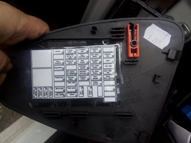 Блок предохранителей под капотом Рено Дастер: фото, расшифровка