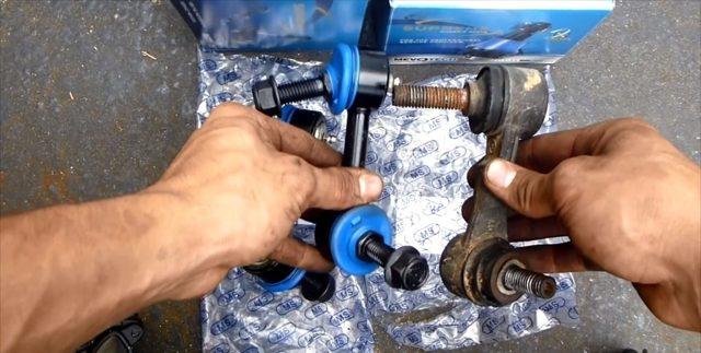 Замена стоек стабилизатора на ВАЗ-2114: фото и видео