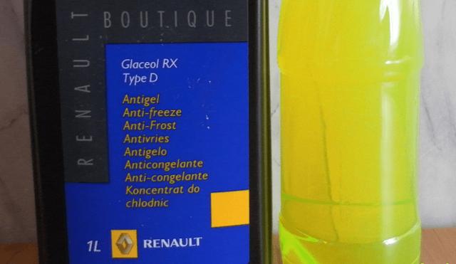 Какая охлаждающая жидкость залита в Рено Логан?