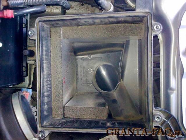 Замена воздушного фильтра на Лада Гранта: фото и видео