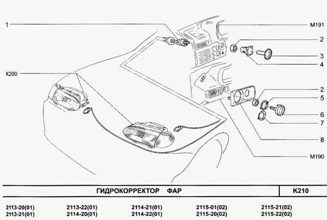 Устройство фары на ВАЗ-2114: фото и видео