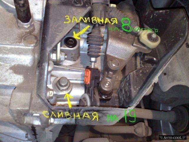 Как слить масло с коробки на ВАЗ-2114: фото и видео