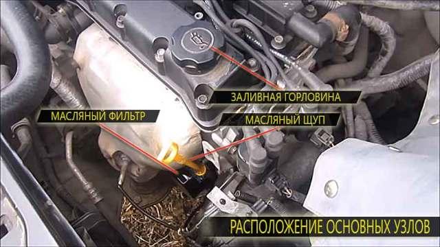Какое и сколько масла заливать в двигатель в Шевроле Лачетти