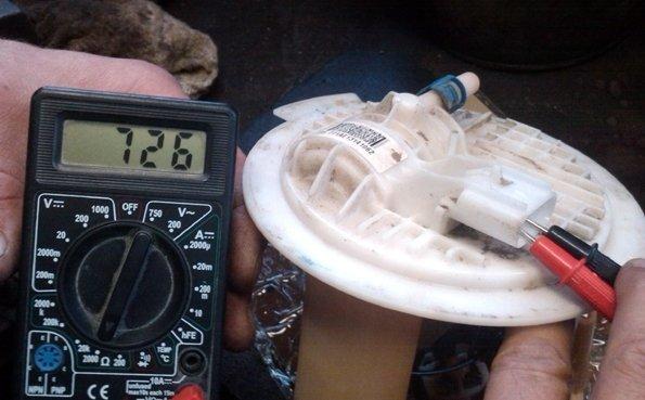 Шевроле Ланос не показывает уровень топлива