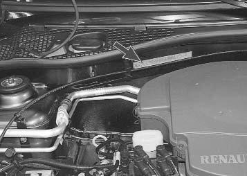 Где находится номер двигателя на Рено Логан + фото