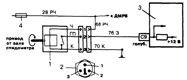 Где на ВАЗ-2114 находится и установлен датчик скорости: фото