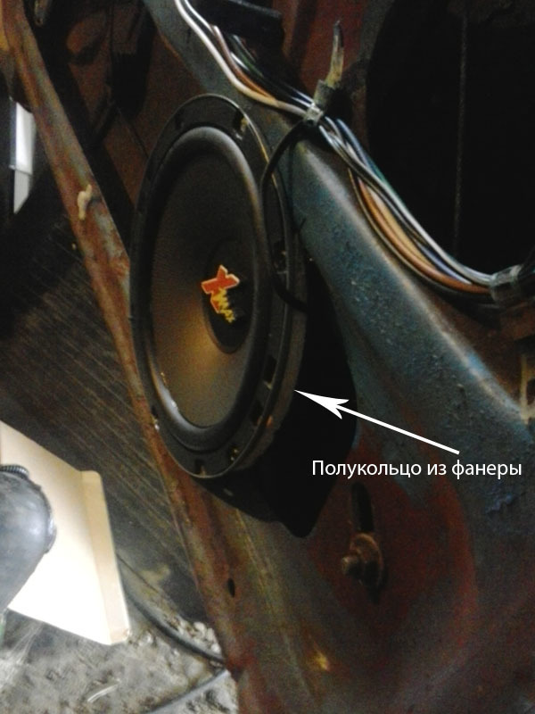 Как установить в передние двери Лада Гранта 16 см динамики: фото и видео