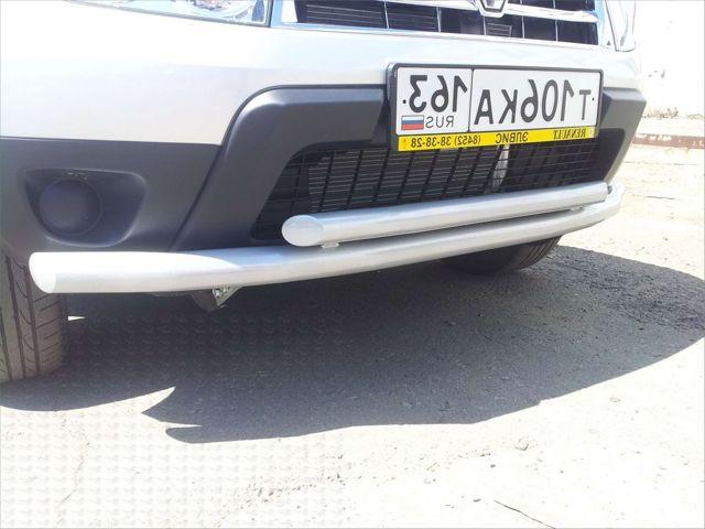 Защита переднего бампера Рено Дастер своими руками: фото, видео