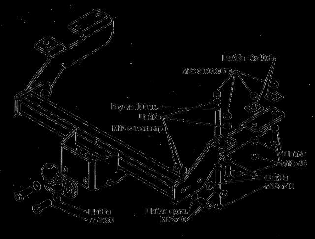 Фаркоп на Рено Логан своими руками: чертежи с размерами, фото
